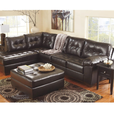 Edmonton Furniture Store | LHF Chocolate Leather Looking Sectional - 201