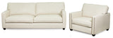 Canadian Made Custom Fabric Loveseat w/ Nailheads- Talia