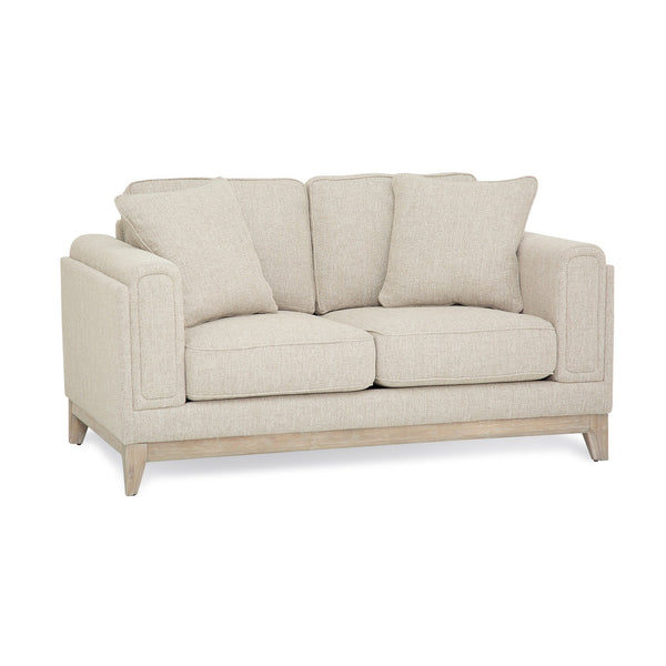 Palliser Custom Loveseat with Wood Base - Matias