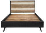 Modern Queen Panel Bed- Noir Havana