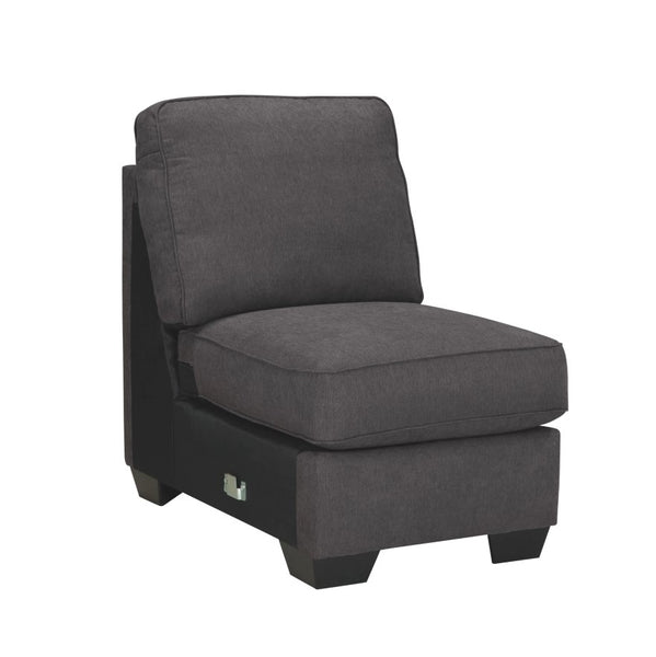 Edmonton Furniture Store | Slate Grey Fabric Armless Chair - 166