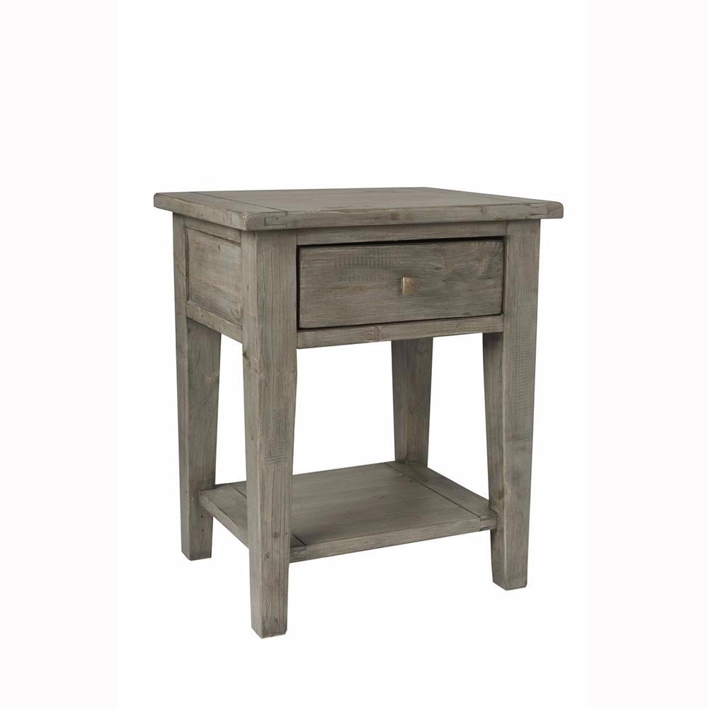 Irish Coast End Table - Black Olive