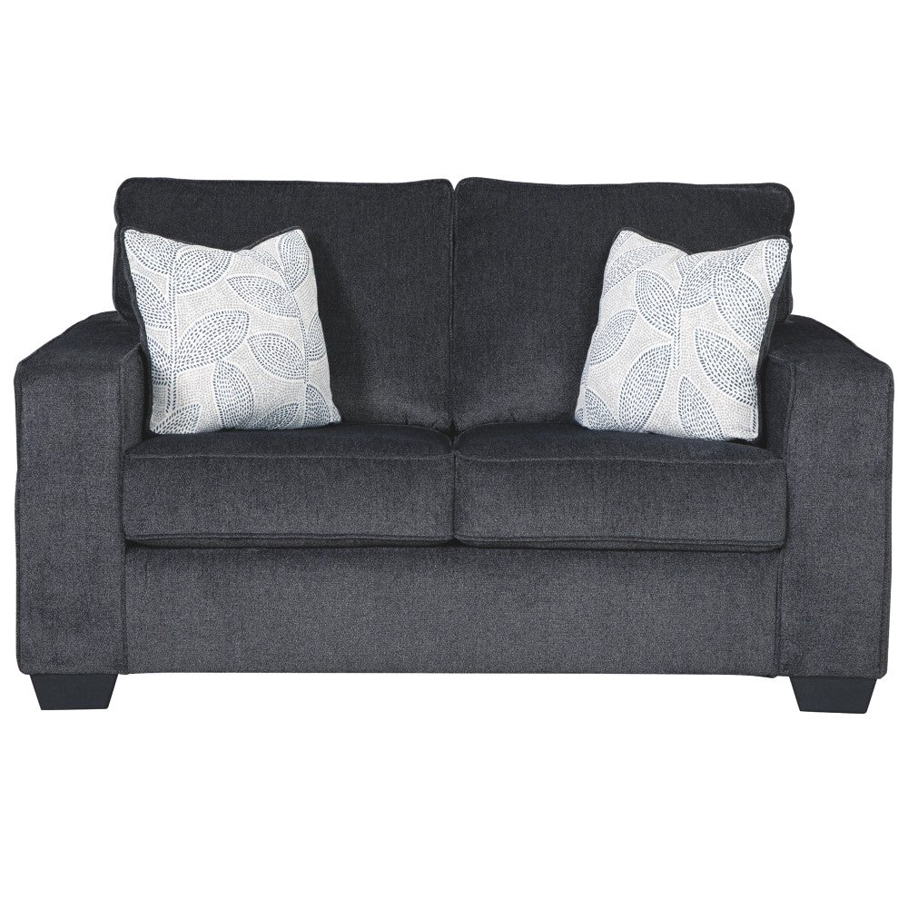 Edmonton Furniture Store | Slate Grey Fabric Loveseat - 872