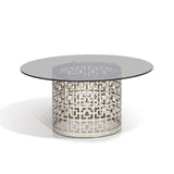 Carole Round Gray Glass Coffee Table - SHT511