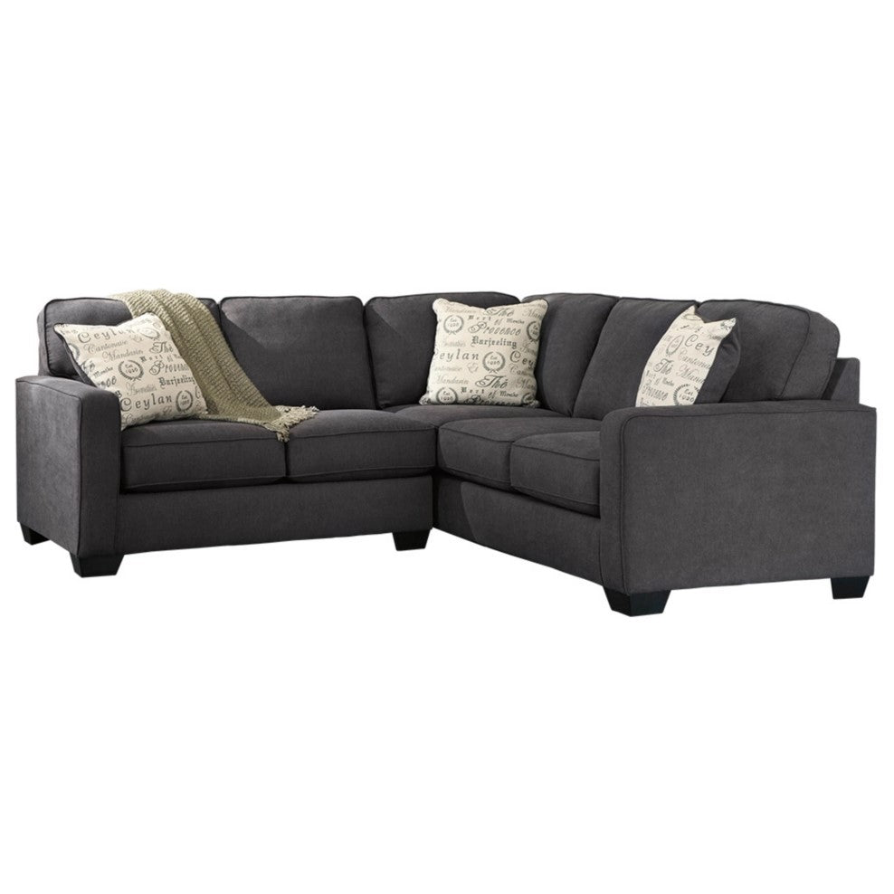 Edmonton Furniture Store | Slate Grey Modular 5 Seat Sectional - 166