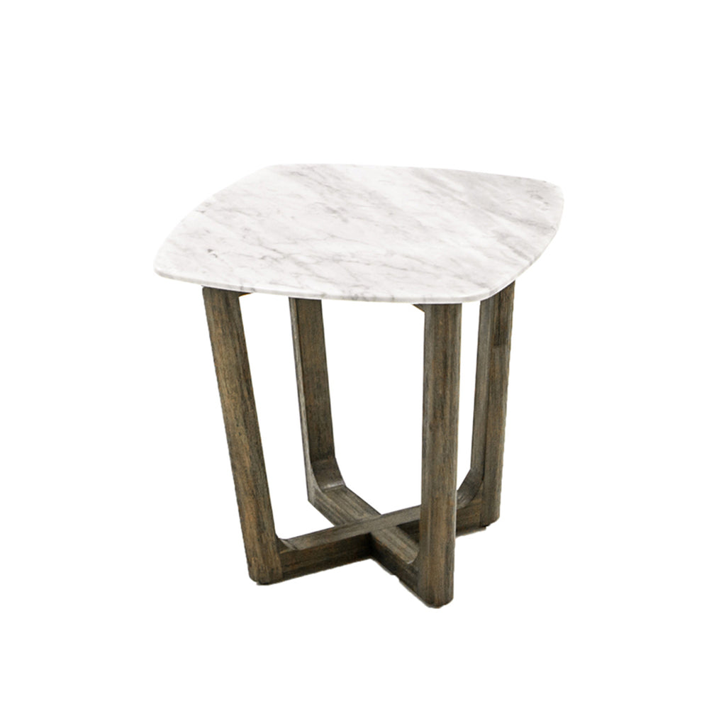 Marble Top End Table-  Aura