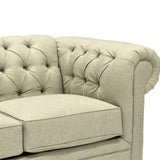 Fabric Tufting Loveseat -1516