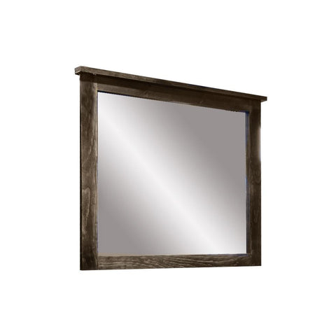 Solid Wood Canadian Made Landscape Mirror - Rough Sawn