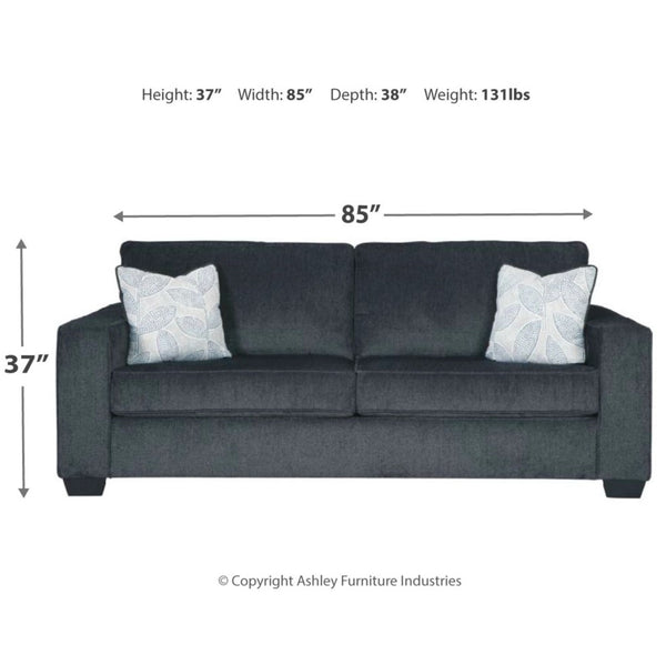 Edmonton Furniture Store | Slate Grey Fabric Sofa - 872
