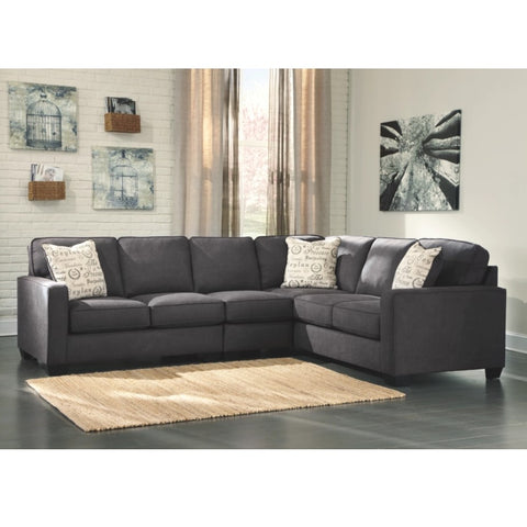 Edmonton Furniture Store | Slate Grey Modular 6 Seat Sectional - 166