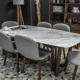 Rectangle Marble Top Dining Table -  Aura
