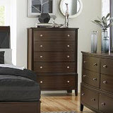 Edmonton Furniture Store | Contemporary Leatherette Upholstered Bedroom Set in Brown Finish - 1730