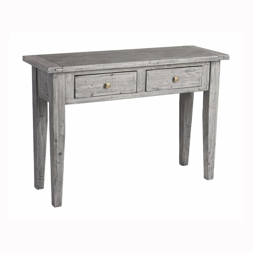 Irish Console Table - Charcoal Ash