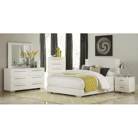 5 Piece High Gloss King Bed Set -1811