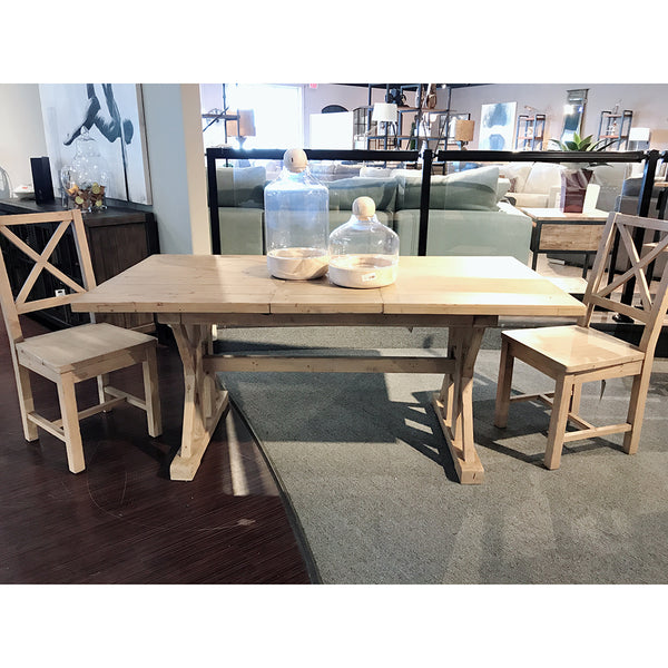 Regular Extension Dinning Set Table w/ 2 Chairs- Tuscan Spring