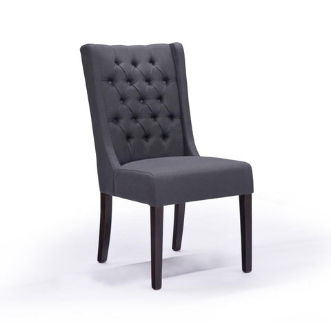 Graphite with Tufting Dining Chair - Lauren