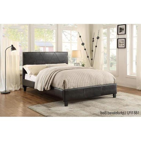 Queen Upholstered Platform Bed - Deleon - 1881PU-1