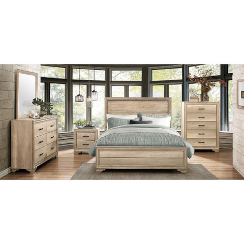 5 Piece Rustic Contemporary Queen Bed Set -1955