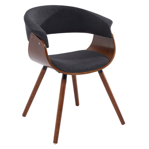 Charcoal Grey Fabric and Bent Wood Accent Chair - Holt