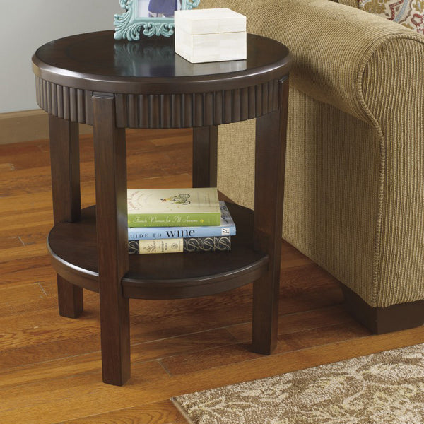 Brown Color Round End Table