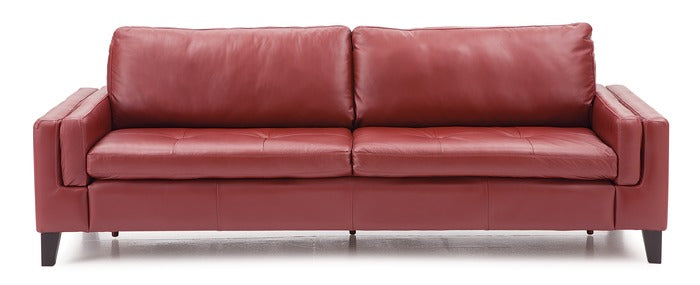 Canadian Made Custom Leather Stationary Sofa - Wynona