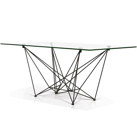 Rectangular Glass Top Dining Table - SEF2203 - Diamond