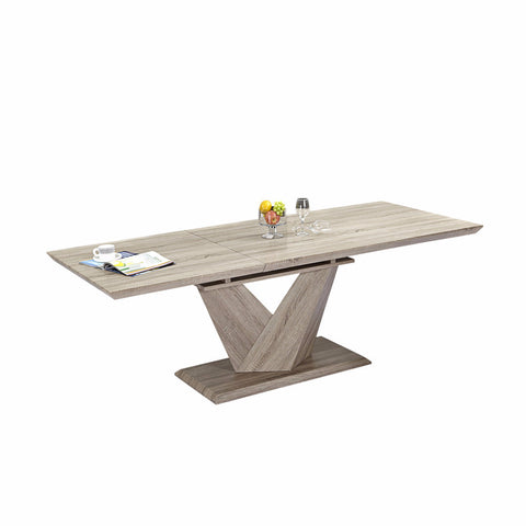 Washed Oak Self-storing Extension Table - Eclipse