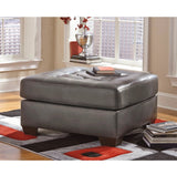 Edmonton Furniture Store | RHF Chocolate Leather Looking Sectional - 201