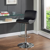 Gas Lift Stool in Black - Silvio
