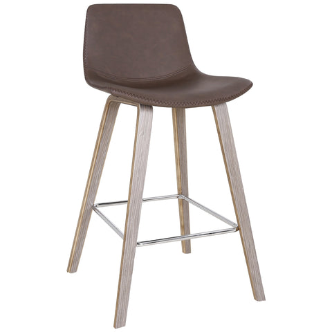 Brown Color Counter Chair - Durant