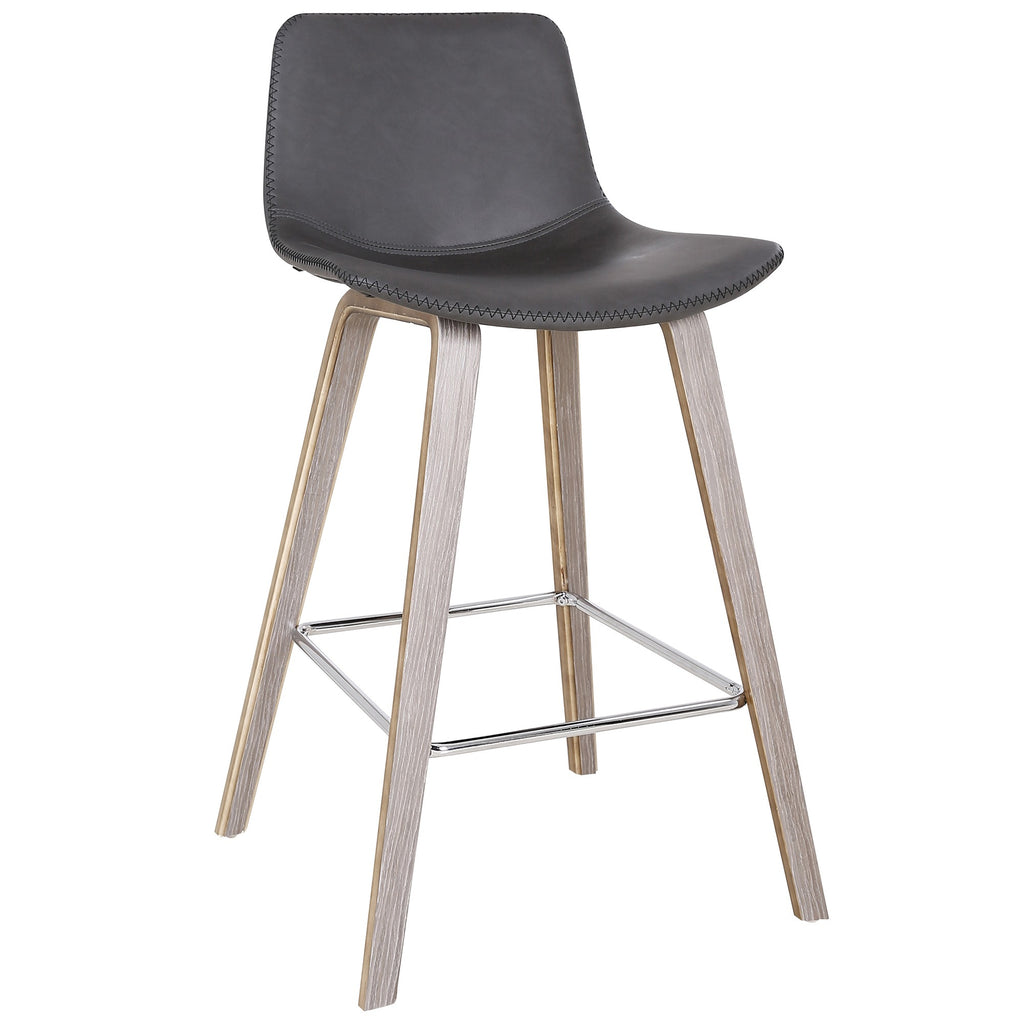 Charcoal Color Counter Chair - Durant