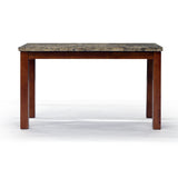 Brown Color Real Marble Sofa Table -  2332