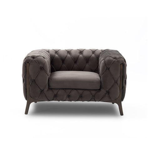 Velvet Club Chair - Barnaby