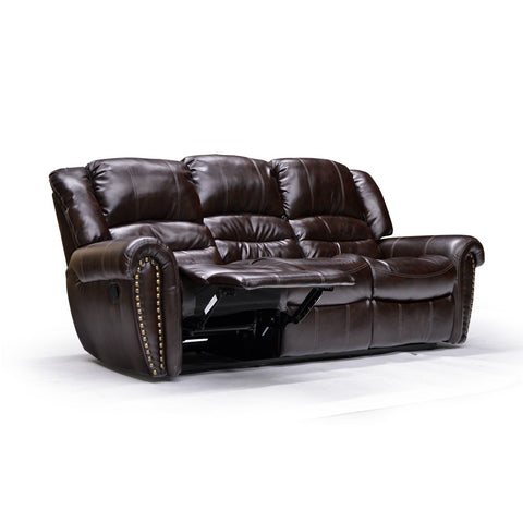 Nailhead Trimmed Reclining Sofa - 9596