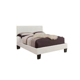 Leather Looking Platform Grey Queen Bed - Volt