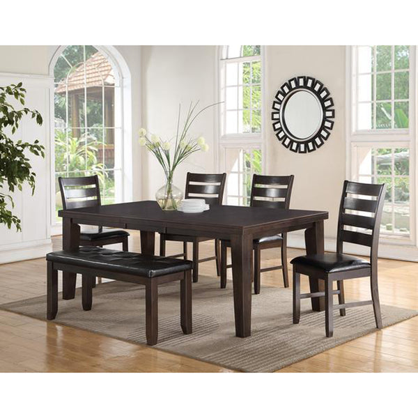 Extendible Dining Table w/ 4 Chairs and a Bench