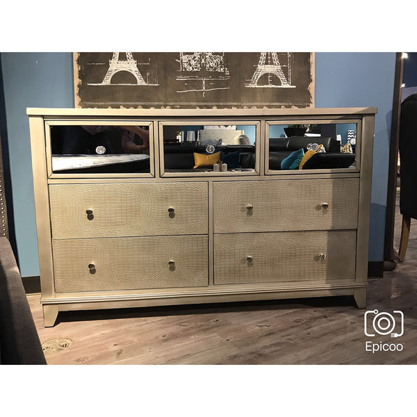 Alligator Scales Looking Dresser w/ Glass Drawers