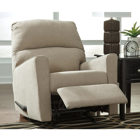 Edmonton Furniture Store | Cream Fabric Rocker Recliner Chair - 166