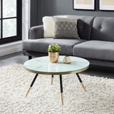 Edmonton Furniture Store | White Marble Looking Coffee Table - Cordelia