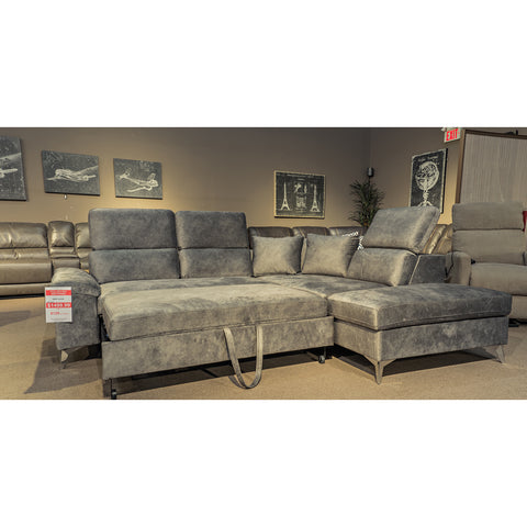 Edmonotn Furniture Store | Sofa Bed Sectional w/ Storage Arm - 3096A