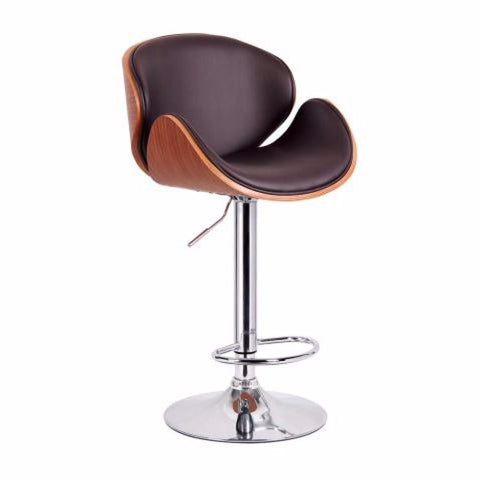 Tango Gas Lift Stool Walnut Finish - 203-822