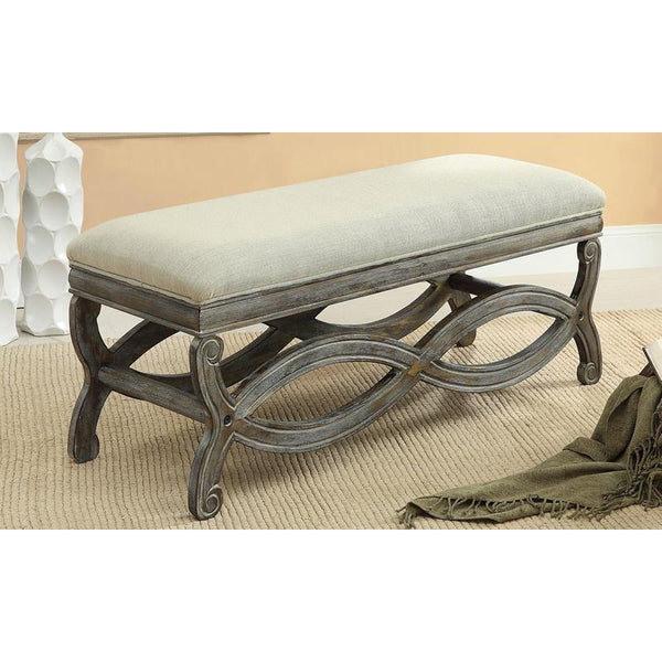 Fabric Double Bench - Savannah