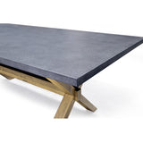 Zinc topped dining table - 5100