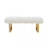 Double Bench in White Color - Angelica