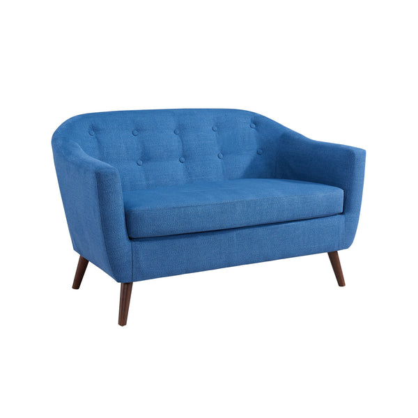 Curved Back Ocean Blue Codo Sofa - Amber Settee