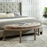 Taupe Color Double Bench - Azalea