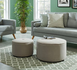 Beige Color 2 PC Ottoman - Etro