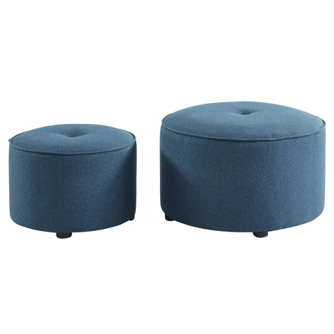 Blue Color 2 PC Ottoman - Etro
