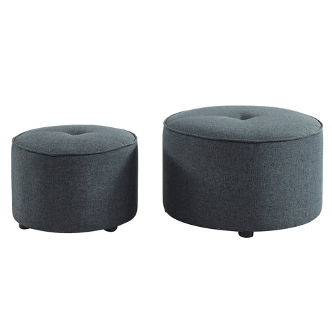 Grey Color 2 PC Ottoman - Etro