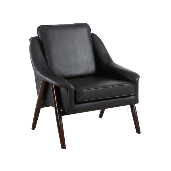 Mid-century Modern Styling Black Accent Chair - Brandon